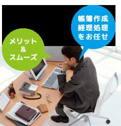 帳簿作成 経理処理をお任せ メリット&スムーズ